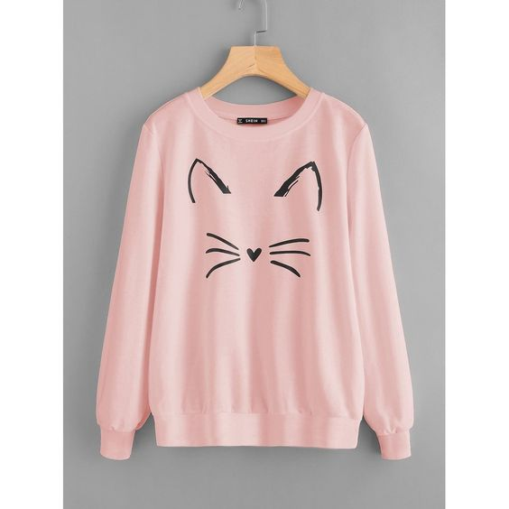 Cartoon Cat Sweatshirt AZ01