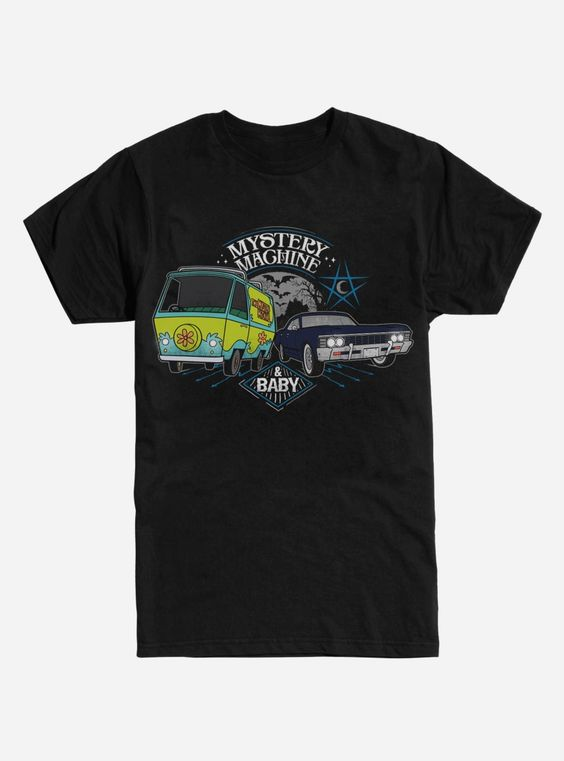 Extra Soft Scoobynatural Mystery Machine T-Shirt AD01