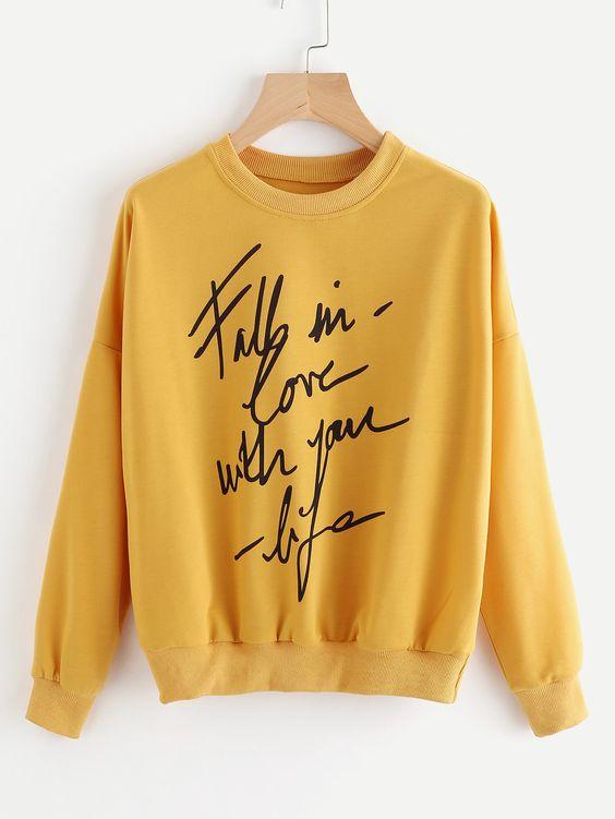 FALL IN LOVE Sweatshirt AZ01