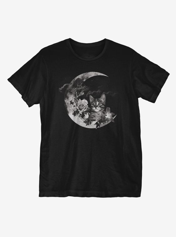 Kitten Moon T-Shirt AD01