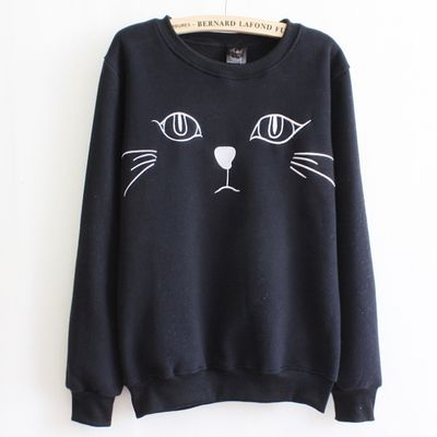 Kitten With Beard Sweatershirt AZ01