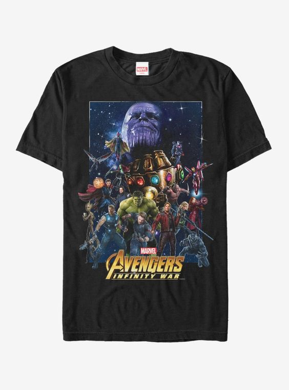 Marvel Avengers Infinity War Character Collage T-Shirt AD01