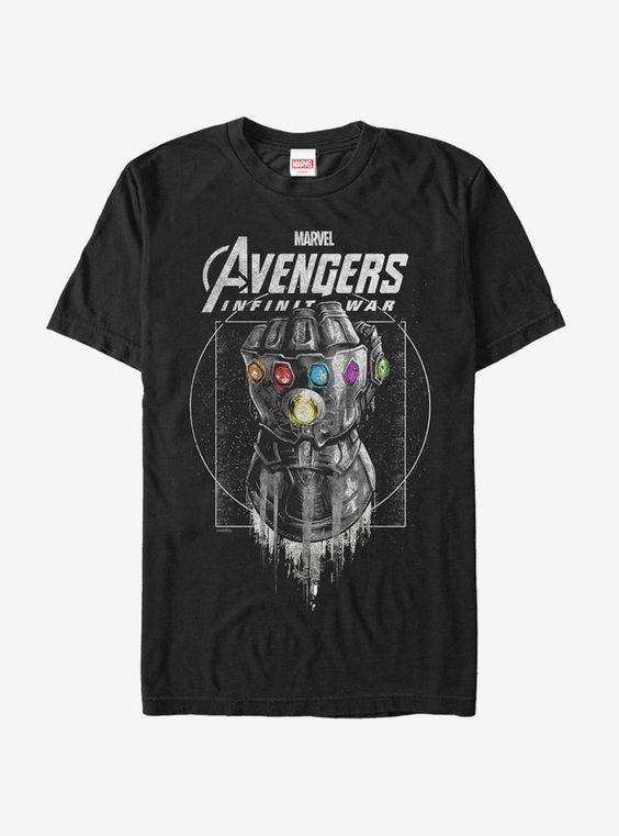 Marvel Avengers Infinity War Gauntlet Drip T-Shirt AD01