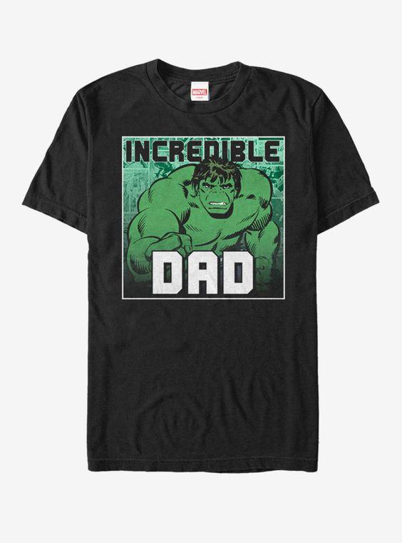Marvel Hulk Incredible Dad T-Shirt AD01