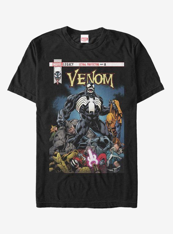 Marvel Venom Lethal Protector Pile T-Shirt AD01