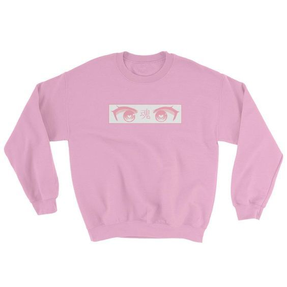 Pink Anime Eyes Sweatshirt AD01