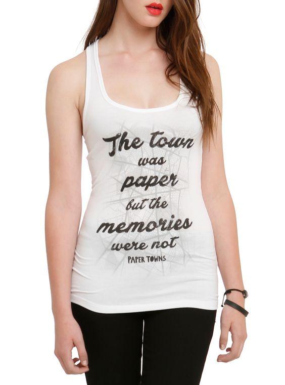 Towns Paper Memories Tank Top AZ01