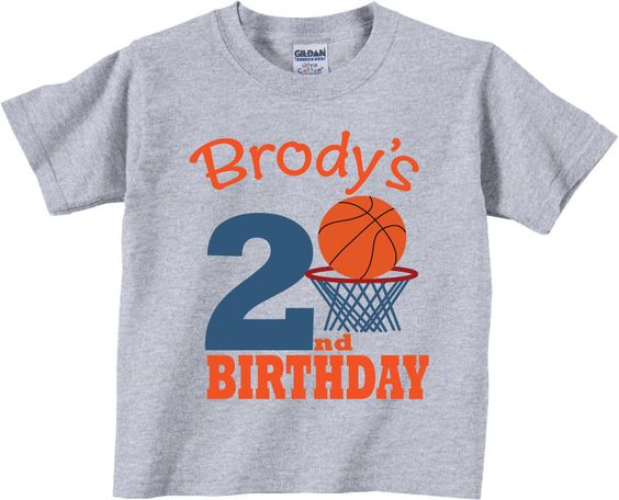 2nd Birthday Shirts with Basketball T-shirt ER01