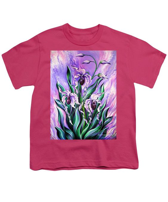 3 Pink Orchids Youth T-Shirt VL