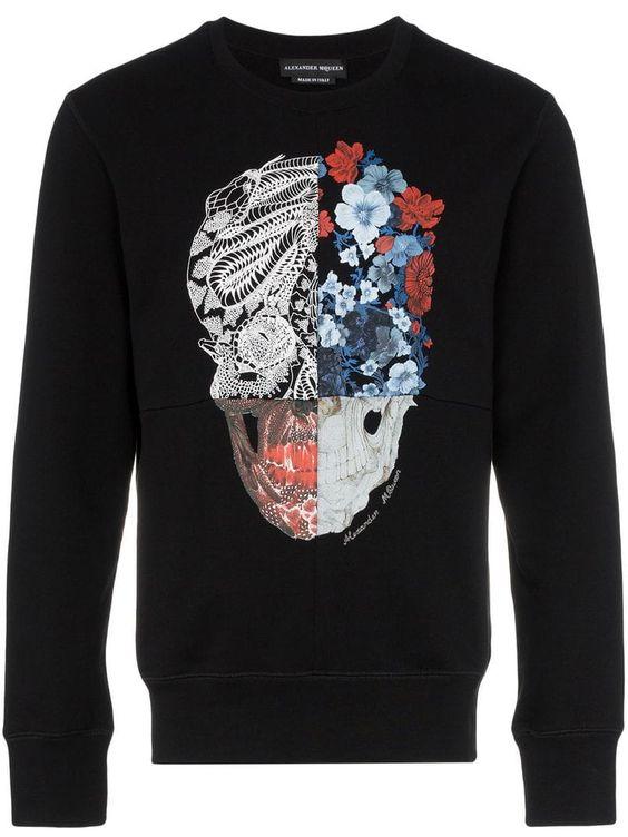 Alexander floral skull sweatshirt FD01