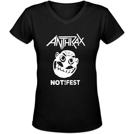 Anthrax V Neck T Shirt SR