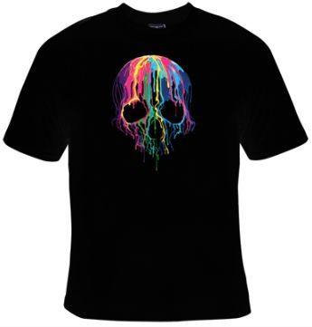 Awesome colorful skull shirt FD01