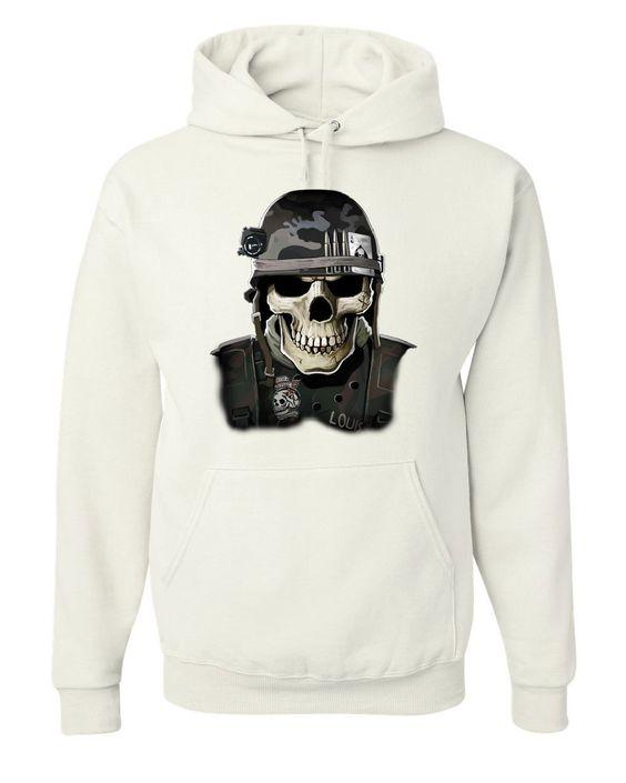 Badass Military Skull Hoodie FD01