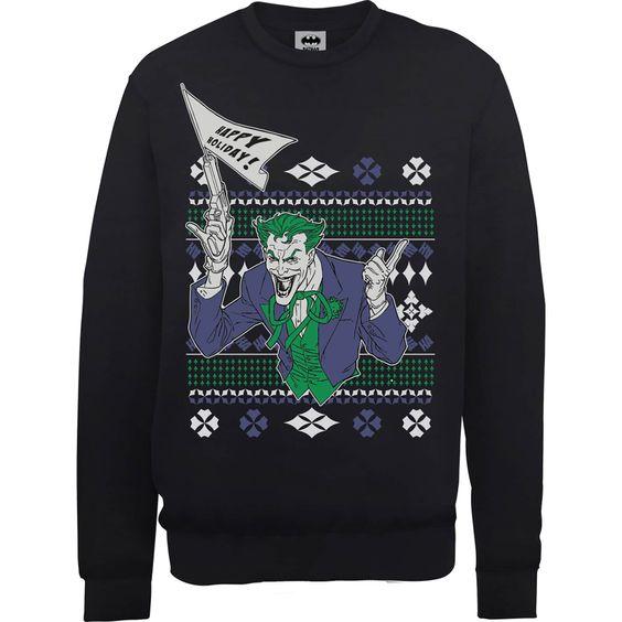 Batman Happy Holiday The Joker Sweatshirt EL01