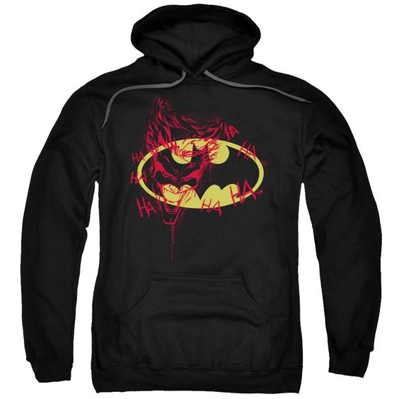 Batman Joker Graffiti Adult Pull Over Hoodie EL01