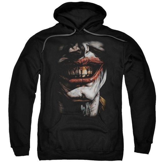 Batman Smile Of Evil Adult Pull Over Hoodie EL01