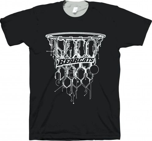 Bearcat Basketball Design T-shirt ER01