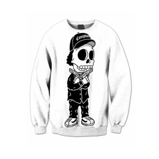Black White Skull Sweatshirt FD01