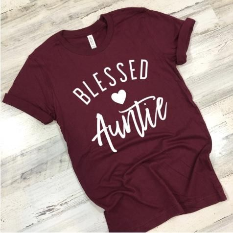 Blessed Auntie T-shirt FD