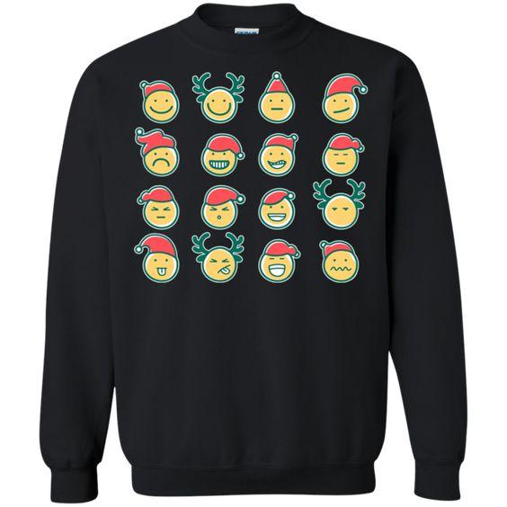 Christmas Emoji Sweatshirt Ai