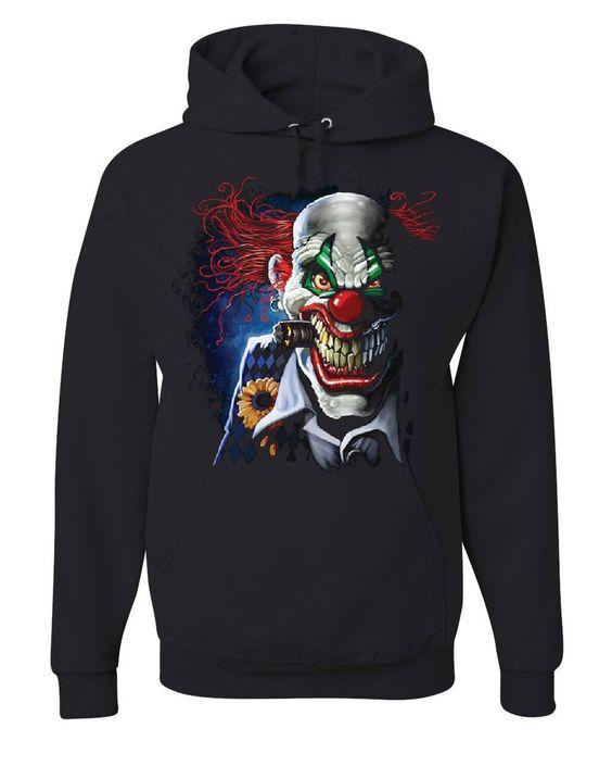 Creepy Joker Clown Hoodie EL01