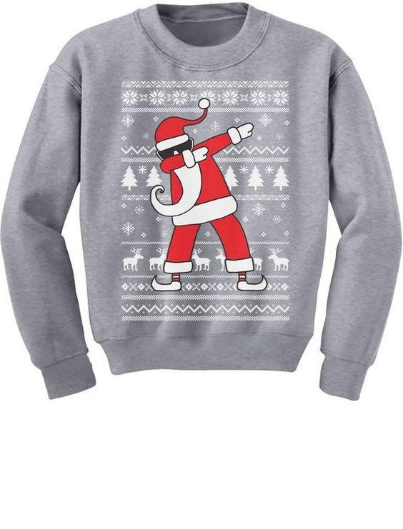 Dabbing Santa Funny Sweatshirt SR01