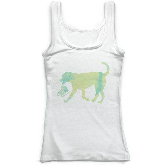 Dog With Skates Figure Tank Top SR01