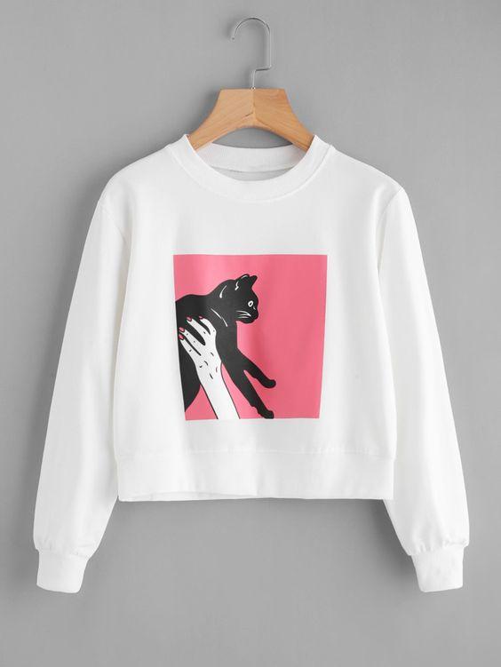 Figure Cat Sweatshirt SR01