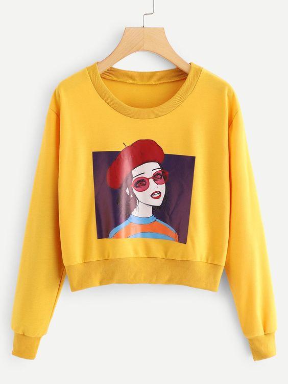 Figure Cute Girl Sweatshirt SR01