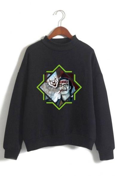 Figure Pattern Sweatshirt SR01