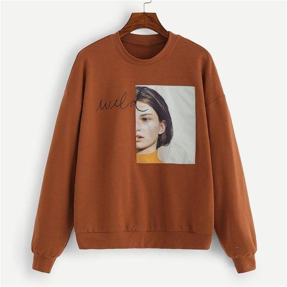 Figure Print Sweatshirt SR01