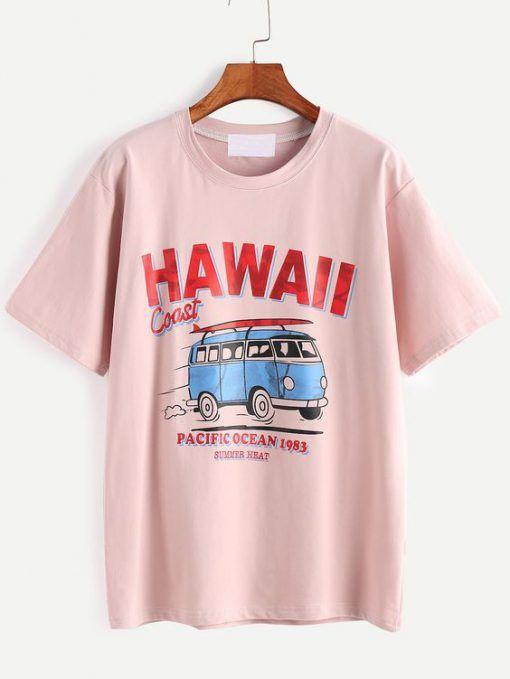 Hawaii Coast T-Shirt FR01