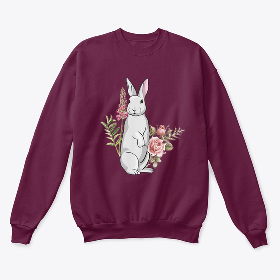 Rabbit and Flower Sweatshirt SR01