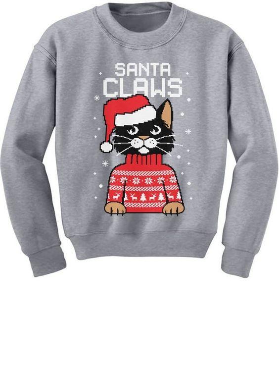 Santa Claws Funny Sweatshirt SR01