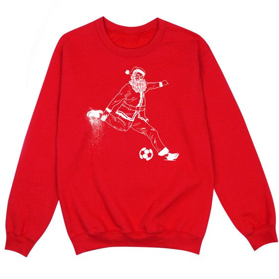 Santa Soccer Figure Sweatshirt SR01