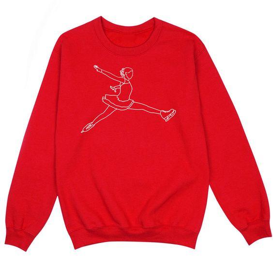 Skating Girl Figure sweatshirt SR01