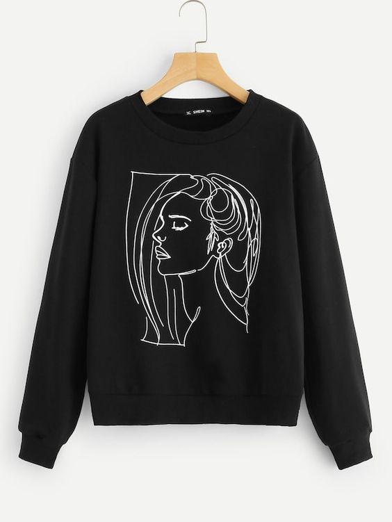 Sketch Figure Sweatshirt SR01
