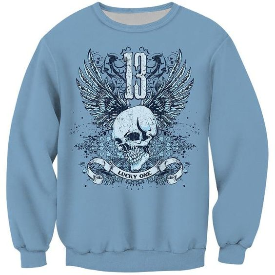 Skull 13 Lucky One Sweatshirt FD01