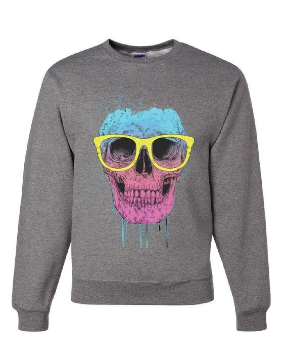 Skull with Glasses Sweatshirt FD01