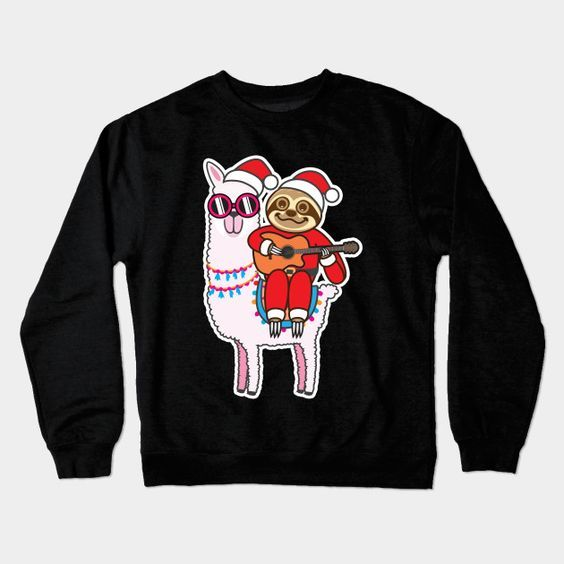 Sloth Santa Llama Sweatshirt SR01