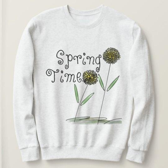 Spring Time Floral Basic Sweatshirt AZ01