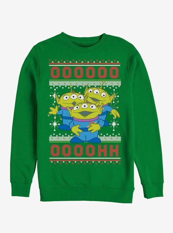 Story Ugly Christmas Sweater Alien Sweatshirt ER 26