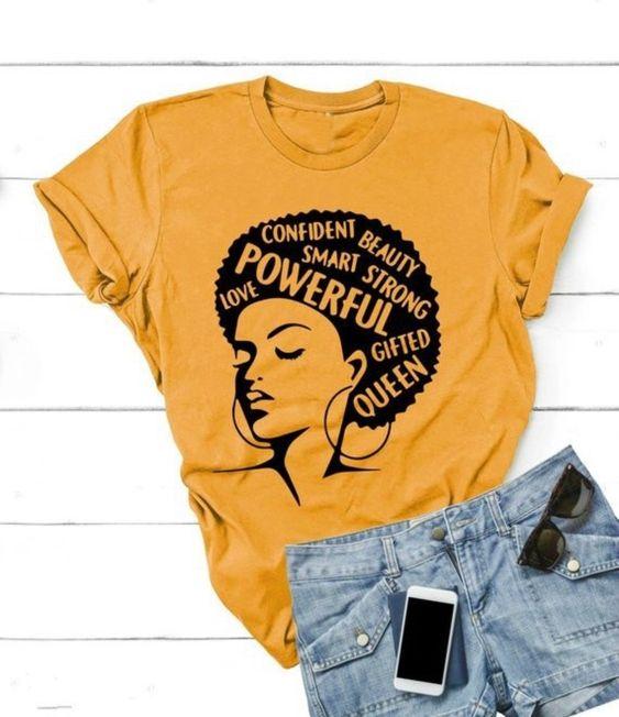 Afro Lady T-Shirt EM30N