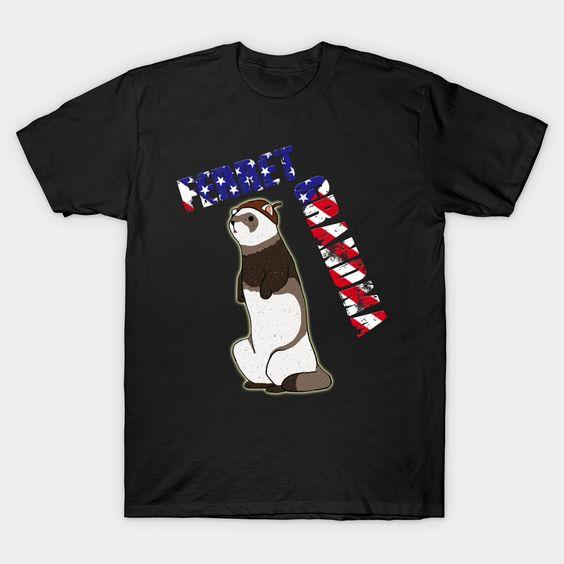 Animals Ferret Grandma T shirt N12EL