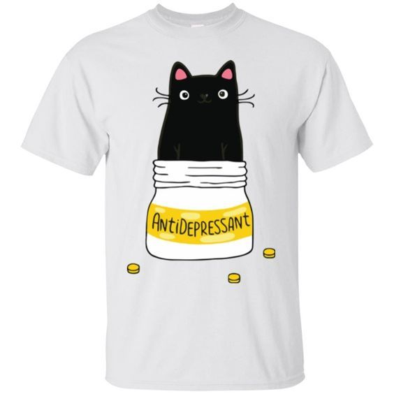 Antidepressant Cat T-Shirt AZ30N