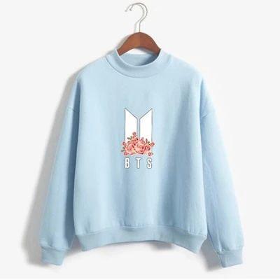BTS Floral Print Sweatshirt AZ30N