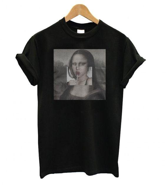 Mona Lisa Lollipop Lips T shirt FD11N