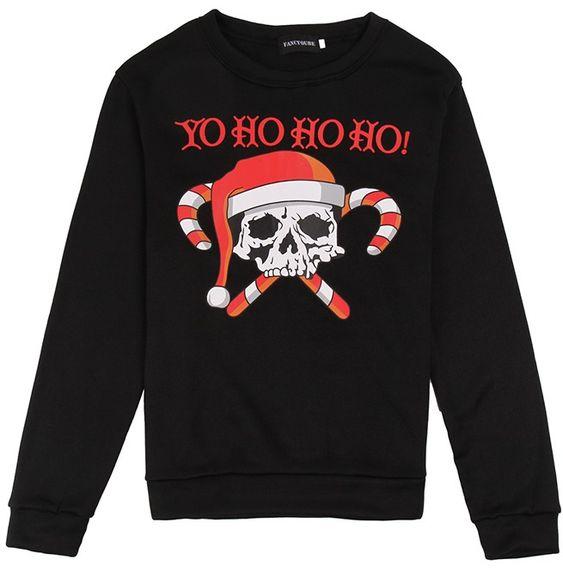 Skull Yo Ho Ho Sweatshirt EM30N