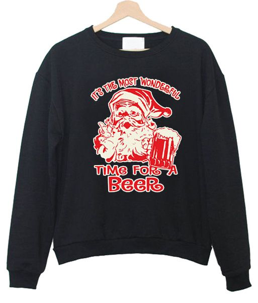 Time For A Beer Sweatshirt EM30N