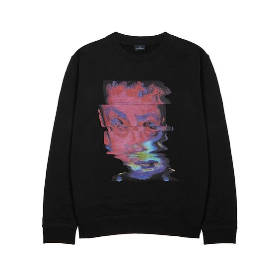 Art Black Sweatshirt VL3D